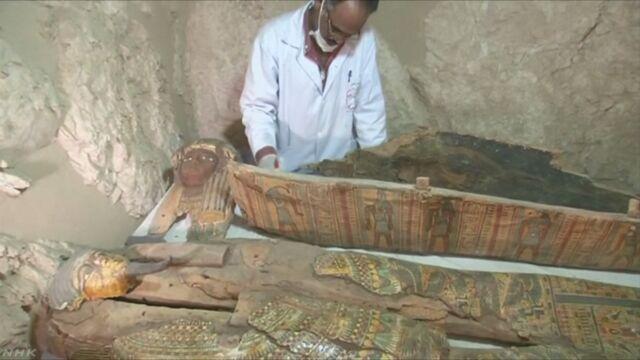 エジプトで3500年前の墓からたくさんの物が見つかる