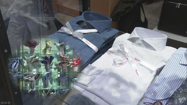 「クールビズ」の季節 デパートが新しい商品を売り始める