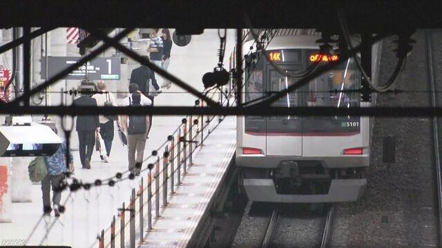 痴漢をしたと言われた男性が電車にぶつかって亡くなる