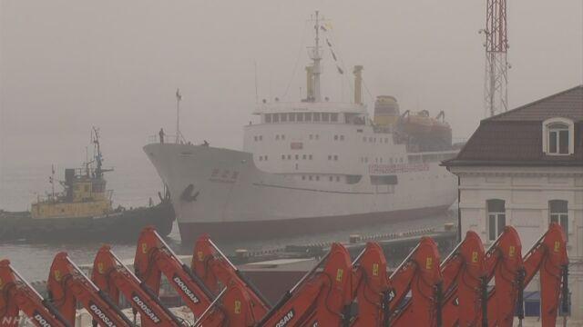 北朝鮮とロシアの間を船が1週間に1回往復する