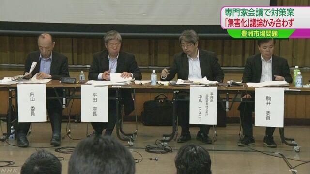 東京都 豊洲市場を安全にするための案を専門家が説明