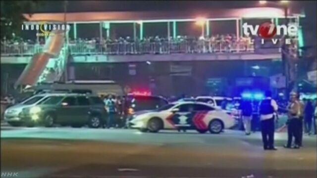 ジャカルタで2回の爆発 警察官3人死亡 自爆テロか