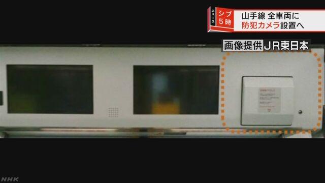 東京の山手線の全部の電車にカメラを付ける