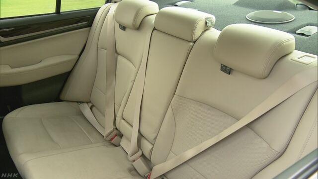 「車の後ろの席の人も必ずシートベルトをしてほしい」