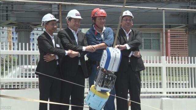 日本の「宇宙エレベーター」のロボットをタイで見せる
