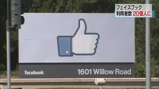 フェイスブックを使っている人が20億人になった