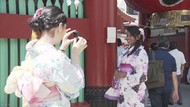 1月から6月に日本に来た外国人が今までで最も多くなる
