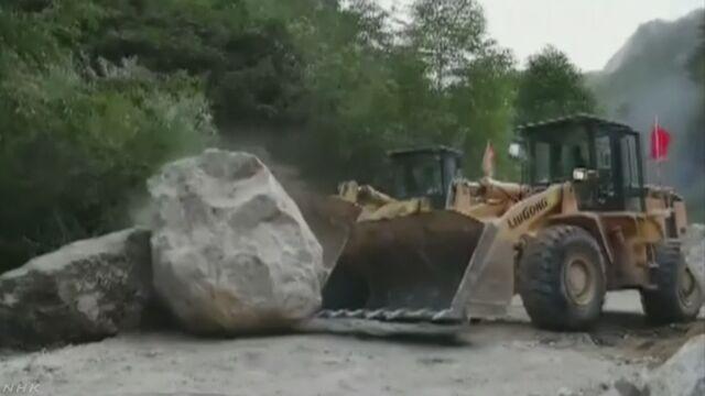 中国の九寨溝でマグニチュード7の地震