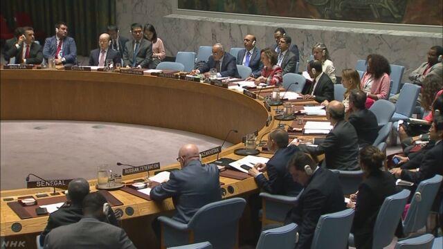 国連が北朝鮮にミサイルの発射をやめるように言う