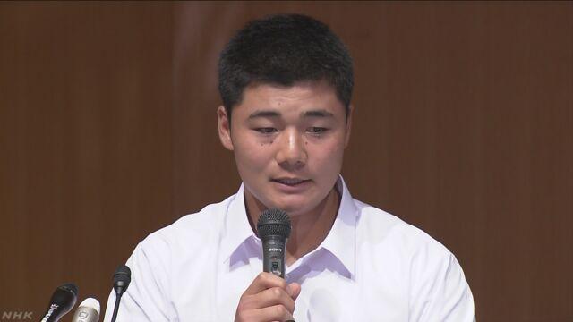 清宮選手「高校を卒業したらプロ野球の選手になります」