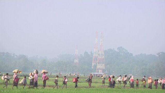 「ロヒンギャ12万人がミャンマーから隣の国に逃げている」