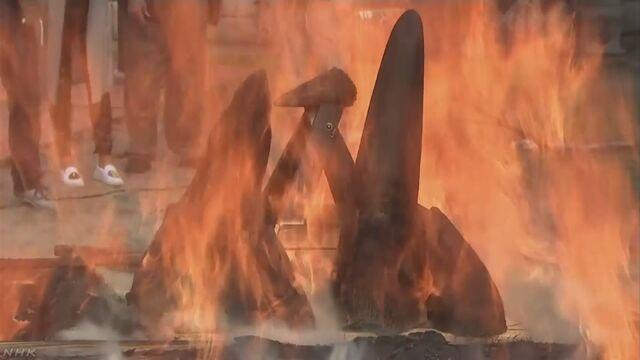 チェコの動物園がサイの角を焼いて密猟に反対する