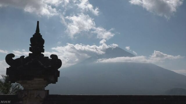 インドネシア バリ島の山が噴火する可能性