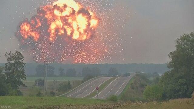 ウクライナ 弾薬が入れてある建物が爆発して3万人が避難