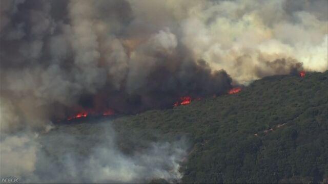 米カリフォルニア州の山火事 火の勢い衰えず 死者23人に