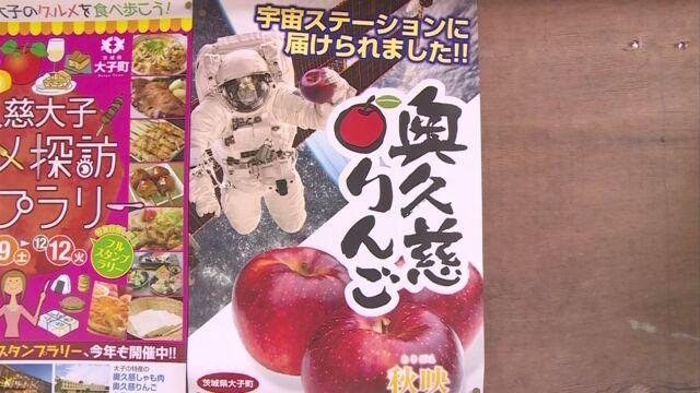 宇宙に運ばれたりんごを「宇宙りんご」という名前で売り出す