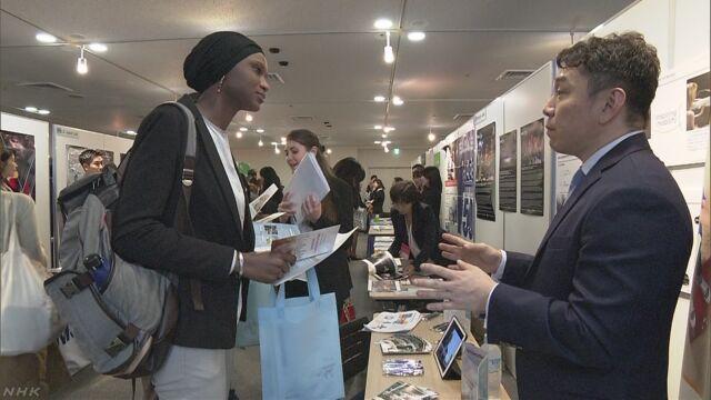 日本で働きたい留学生と世界で仕事をする会社が話す会
