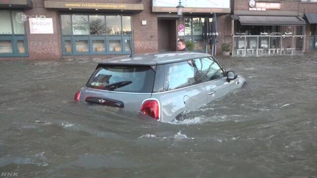 ヨーロッパやアメリカで大雨と強風 被害広がる