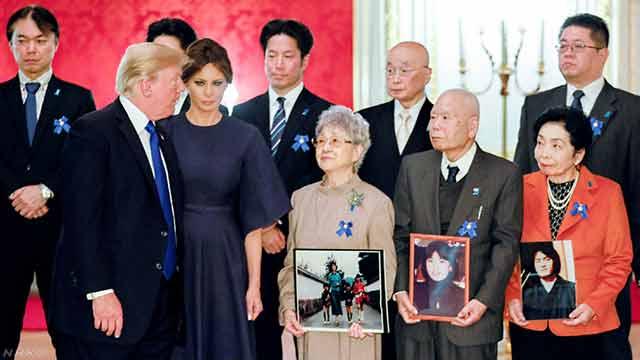 トランプ大統領が北朝鮮に拉致された人と家族に会う
