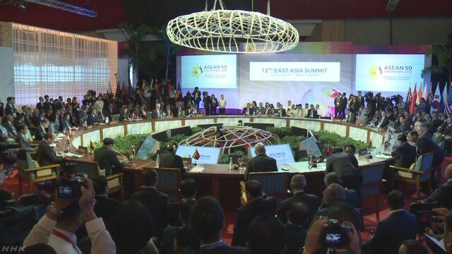 東アジアの国の首相などが「化学兵器をなくそう」と発表