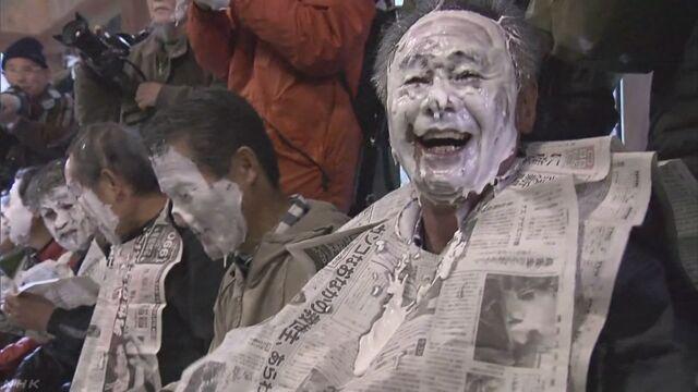 福岡県 「おしろい祭り」でまちが元気になるように祈る