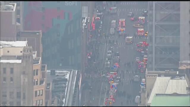 米ニューヨーク中心部で爆発があったという情報