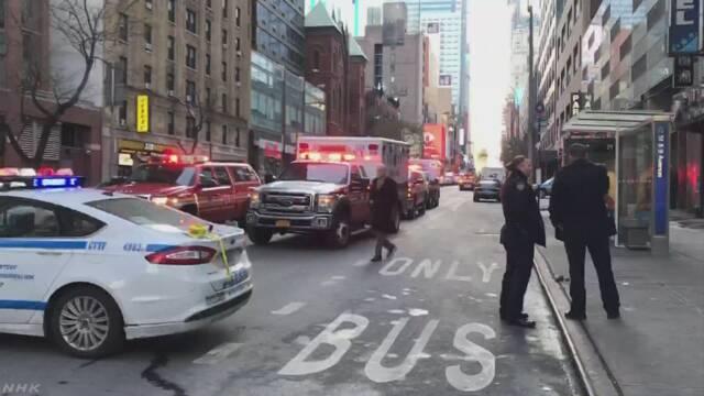 米ニューヨークで爆発 4人けが 容疑者と見られる男を拘束