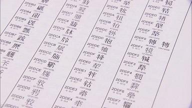 コンピューターで使えるように全部の漢字にコードが決まる