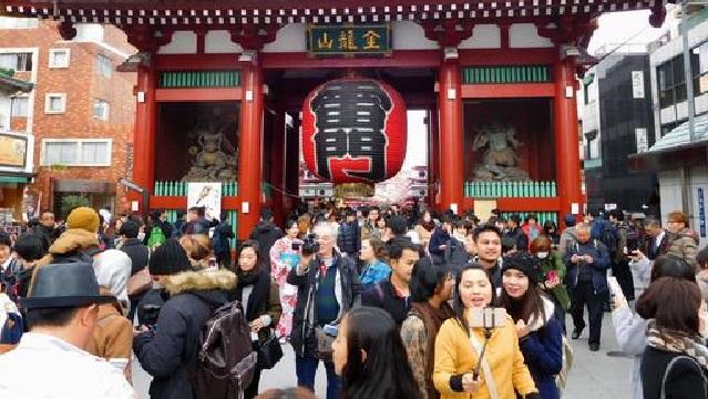 去年日本へ旅行に来た外国人はいちばん多い2869万人