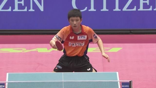 卓球全日本選手権 14歳張本 史上最年少でベスト4進出