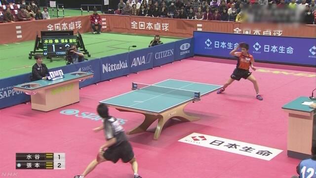 14歳張本が最年少優勝 17歳伊藤も初優勝 卓球全日本選手権