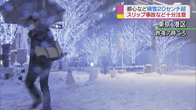 雪がたくさん降って東京の中心で23cm積もる