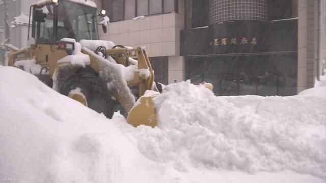 福井県や石川県などで雪がたくさん降っている