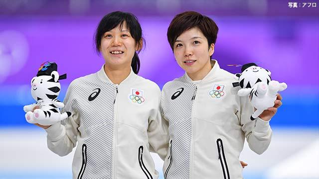 日本の女子が銀と銅メダル スピードスケート1000m