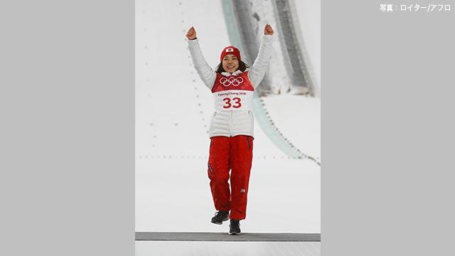 スキーのジャンプ 高梨沙羅選手が銅メダル