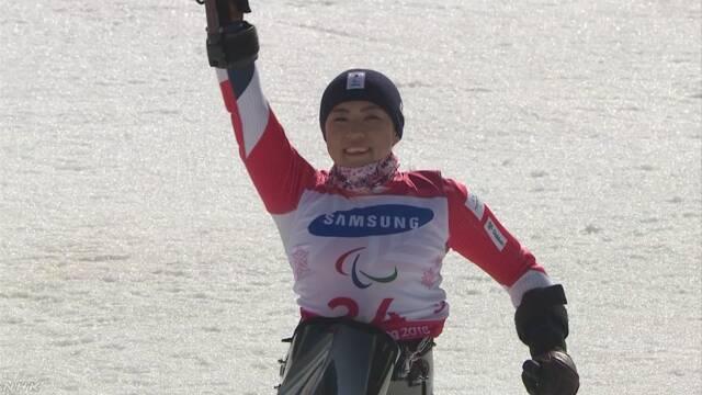 村岡が金メダル パラアルペン 女子大回転 座位