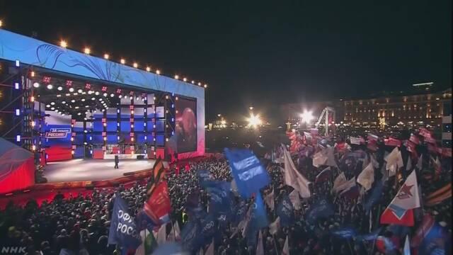 ロシア大統領選 プーチン氏圧勝の勢い 通算4期目
