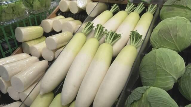農林水産省 高かった野菜が少しずつ安くなってきた
