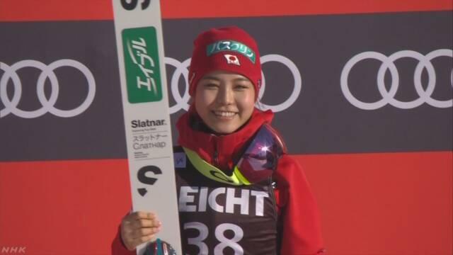 スキージャンプ女子W杯 高梨が通算54勝 男女歴代最多記録