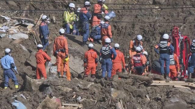 大分県で山が崩れて家が埋まる 行方不明の人をさがす