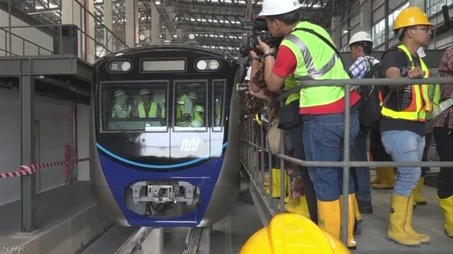 インドネシア 初めての地下鉄を走る車両が日本から着いた