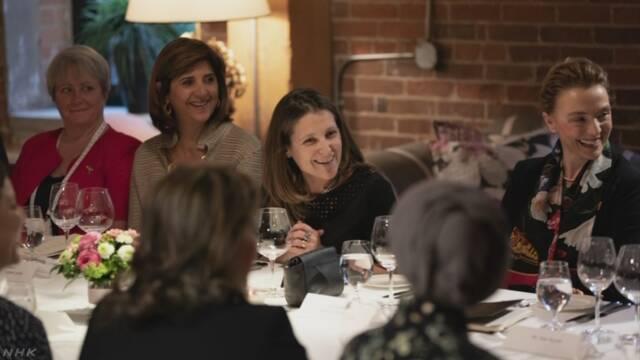 世界の女性の外務大臣だけが集まる会議を9月にカナダで開く