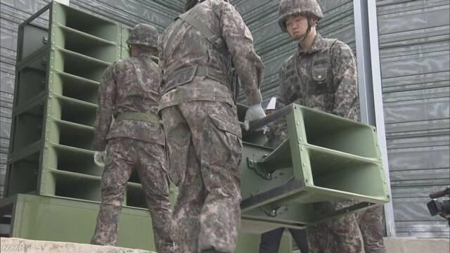 韓国 宣伝放送のスピーカー撤去開始 北朝鮮も同様の動き