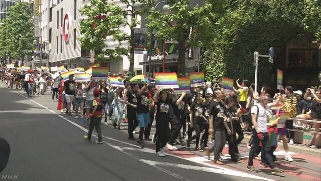 LGBTに理解を 国内で最大規模のパレード 東京 渋谷