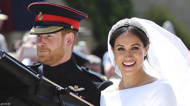 イギリス ハリー王子とメーガンさんが結婚式を行う