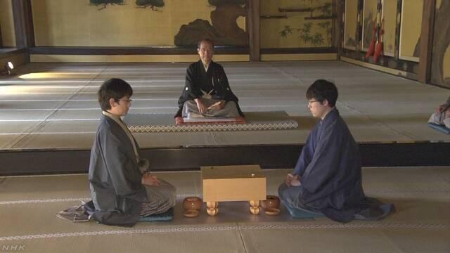 京都市 城の中で江戸時代のように囲碁の試合をする