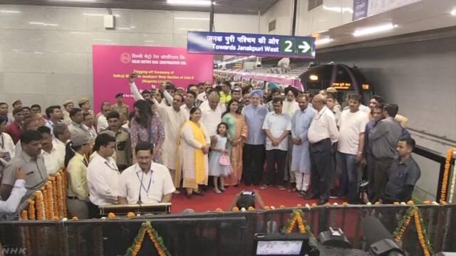 インド 首都渋滞対策の地下鉄 日本支援の新路線が開通
