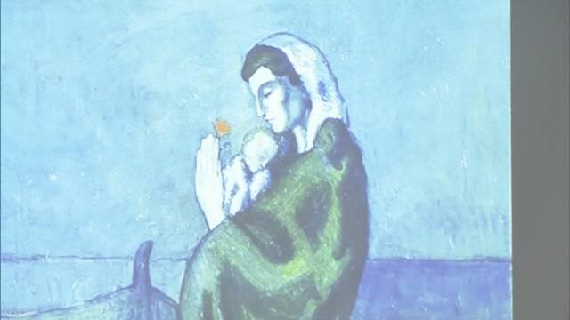 ピカソ代表作「海辺の母子像」最先端スキャナーで新発見