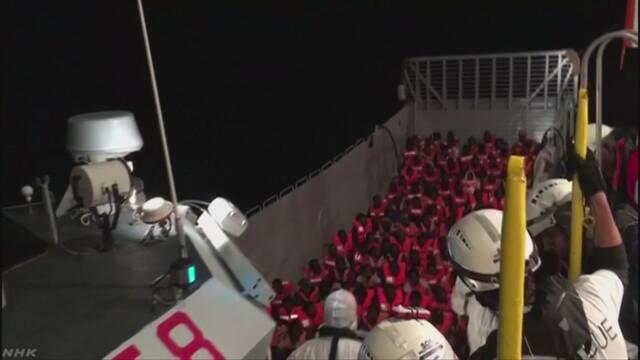 イタリア アフリカからの難民などが乗る船を港に入れない
