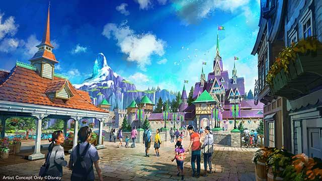 東京ディズニーシーを広くする 「アナと雪の女王」がテーマ